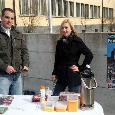 Alex Rohrbach und Denise Friederich auf Stimmenfang