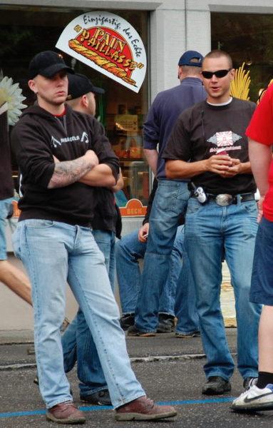 ...und einige Jahre später als Security an der Schlachtfeier in Sempach 2009.