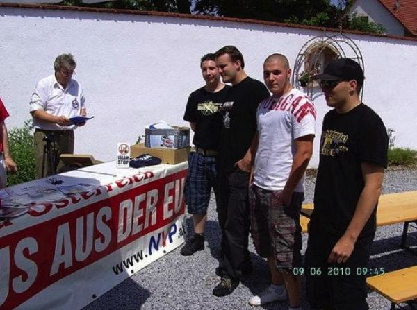Die PNOS zu Besuch in Öterreich: Philippe Eglin, Pascal Trost, Marcel Gafner und Dominik Hulliger (v.l.n.r.)
