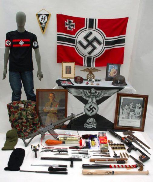 Bei Hausdurchsuchungen nach dem Angriff auf die Antirassismus-Demo in Willisau 2004 kam ein beachtliches Waffenarsenal zum Vorschein.