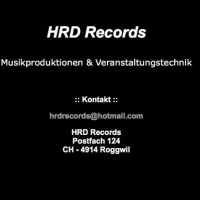 Spartanisch gehaltene Website des Labels HRD-Records
