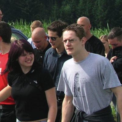 Mitbegründer Daniel Herger (rechts) an der Schlachtfeier Sempach 2008...