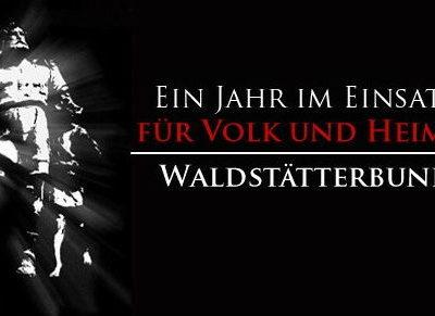"""Der Waldstätterbund warb mit dem Slogan """"Für Volk und Heimat"""" um Mitglieder."""