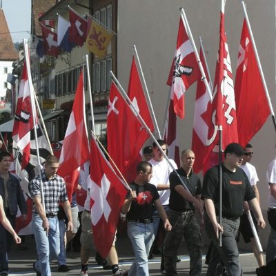 PNOS-Umzug zur Schlachtfeier Sempach