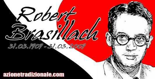Flyer der italienischen Fronte della Tradizione zum Gedenken an Robert Brasillach