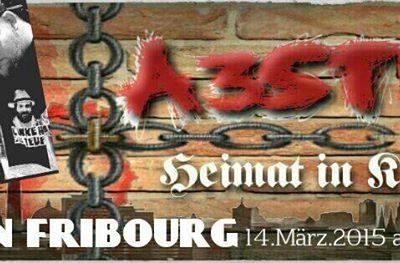 Konzertankündigung von A3stus für Fribourg (CH)