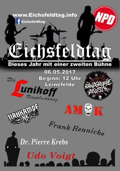 Konzertflyer 06.05.2017 Eichsfeldtag Leinefelde