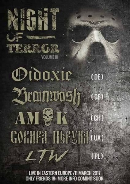 Konzertflyer 11.03.2017 Night of Terror Polen