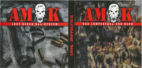 CD-Covers der zweiten und dritten Amok CD, herausgegeben beim rechtsextremen Label Front Records.