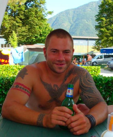 Marc Weiersmüller, ehemaliges Amokmitglied und Mitglied der Aargauer Blood & Honour Sektion.