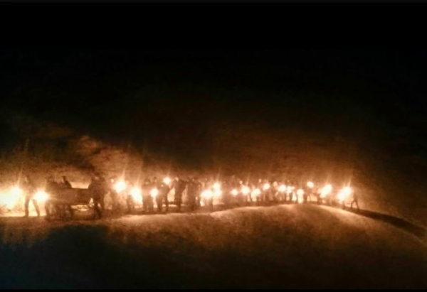 B&H Mitglieder marschieren regelmässig an Schlachtfeiern mit - so wie hier in Morgarten im November 2015