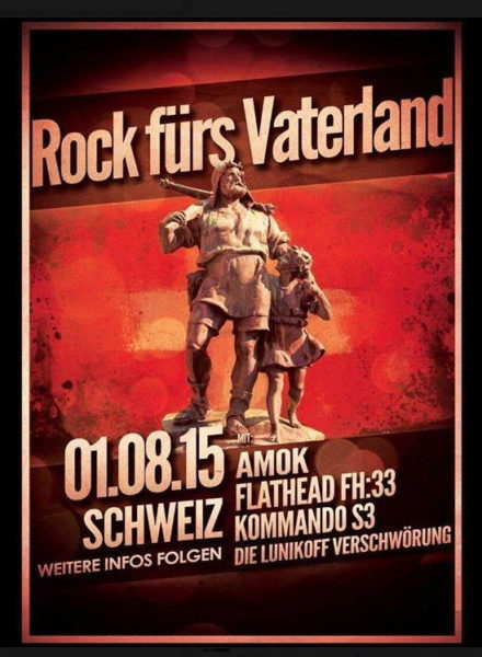 Flyer für das 1. August-Konzert 2015 in Schönenberg ZH
