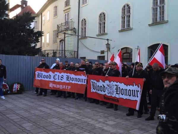 B&H/C18 Sektionen Ungarn und Österreich an einem internationalen Aufmarsch