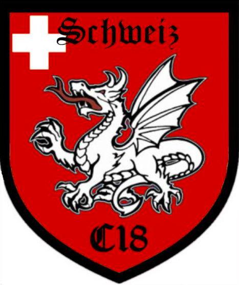 """Anstelle der Triskele (B&H) steht bei C18 meist der Drache im Logo. Ihr Motto: """"Whatever it takes""""."""