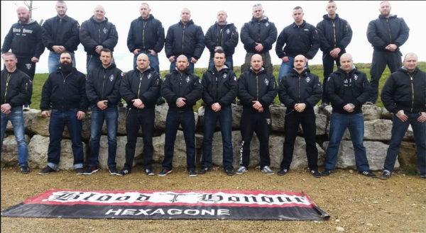 Mitglieder der Blood&Honour Sektion Hexagone