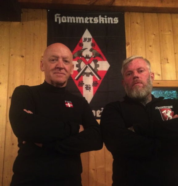 Philippe Brennenstuhl zu Besuch bei den welschen Hammerskins, hier mit Christophe Gruy