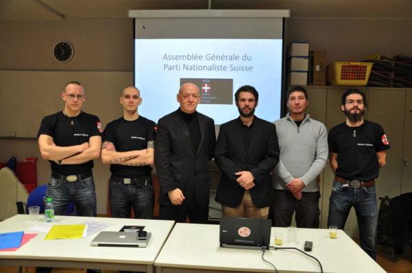 PNS Mitglieder mit Philippe Eglin und Dominic Lüthard (2.u.3.v.r)