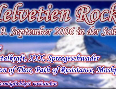 """Flyer für das Rechtsrock-Festival """"Helvetien Rockt"""", organisiert von HRD Records."""