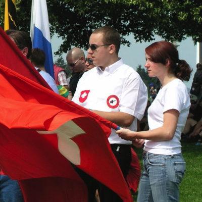 Auch 2006 waren Patrick Fricker und seine Freundin bereits an der Sempacher Schlachtfeier anzutreffen.