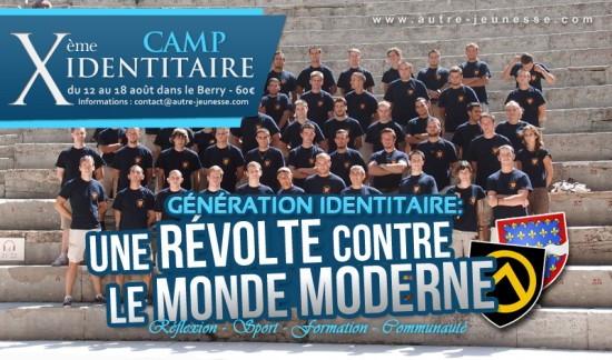 Flyer zum 10. Sommercamp der Génération Identitaire