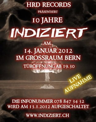 Im Januar 2012 fand das letzte grössere Konzert der Band in Utzenstorf statt