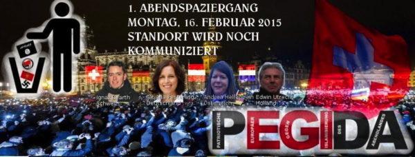 Mit diesem Flyer rief die Pegida Schweiz erstmals zur Demo auf - durchgeführt wurde sie allerdings nie.