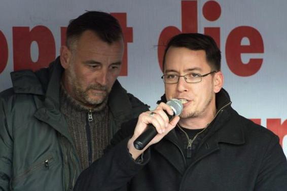 Lutz Bachmann (l.) und Ignaz Bearth bevor sich Bearth mit Pegida Deutschland verkrachte