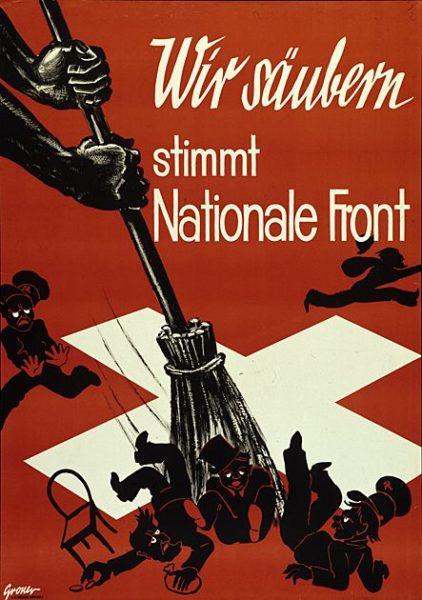 """...und hier das Original der """"Nationalen Front"""", der einflussreichsten Partei der Schweizer Frontenbewegung in den 30-er Jahren."""