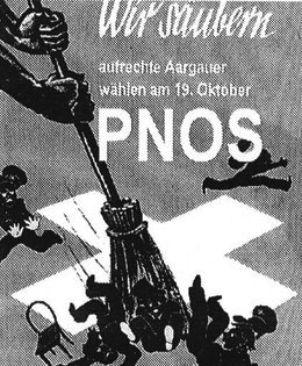 Mit diesem Sujet aus den 30-er Jahren warb die PNOS 2003 für die Nationalratswahlen...