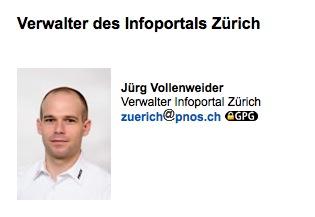 Jürg Vollenweider, Mitglied der Europäischen Aktion und ehemaliger Verwalter des PNOS Infoportals Zürich.