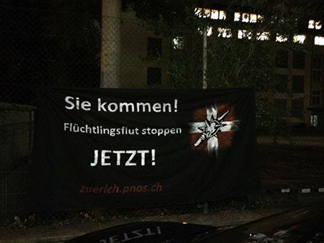 Sandro Niederhauser beteiligte sich unter anderem an fremdenfeindlichen Plakataktionen...
