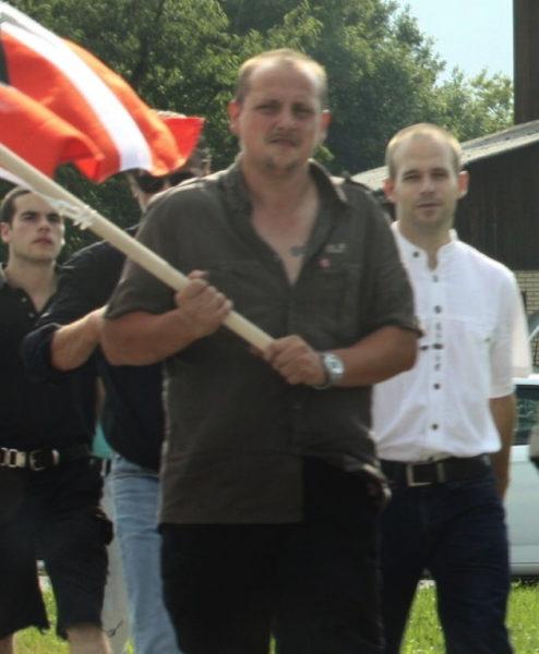 Vollenweider (r.) nahm in der Folge einige Male an der Schlachtfeier in Sempach teil.