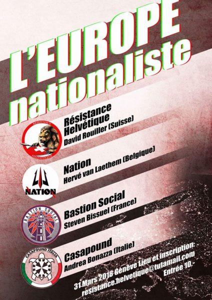 Aufruf zur nationalistischen Konferenz vom 31. März 2018
